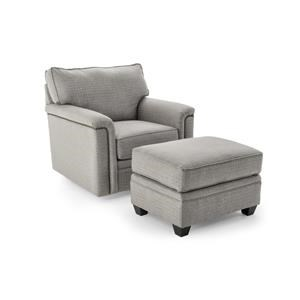 Broyhill Furniture Warren Swivel Chair and Ottoman