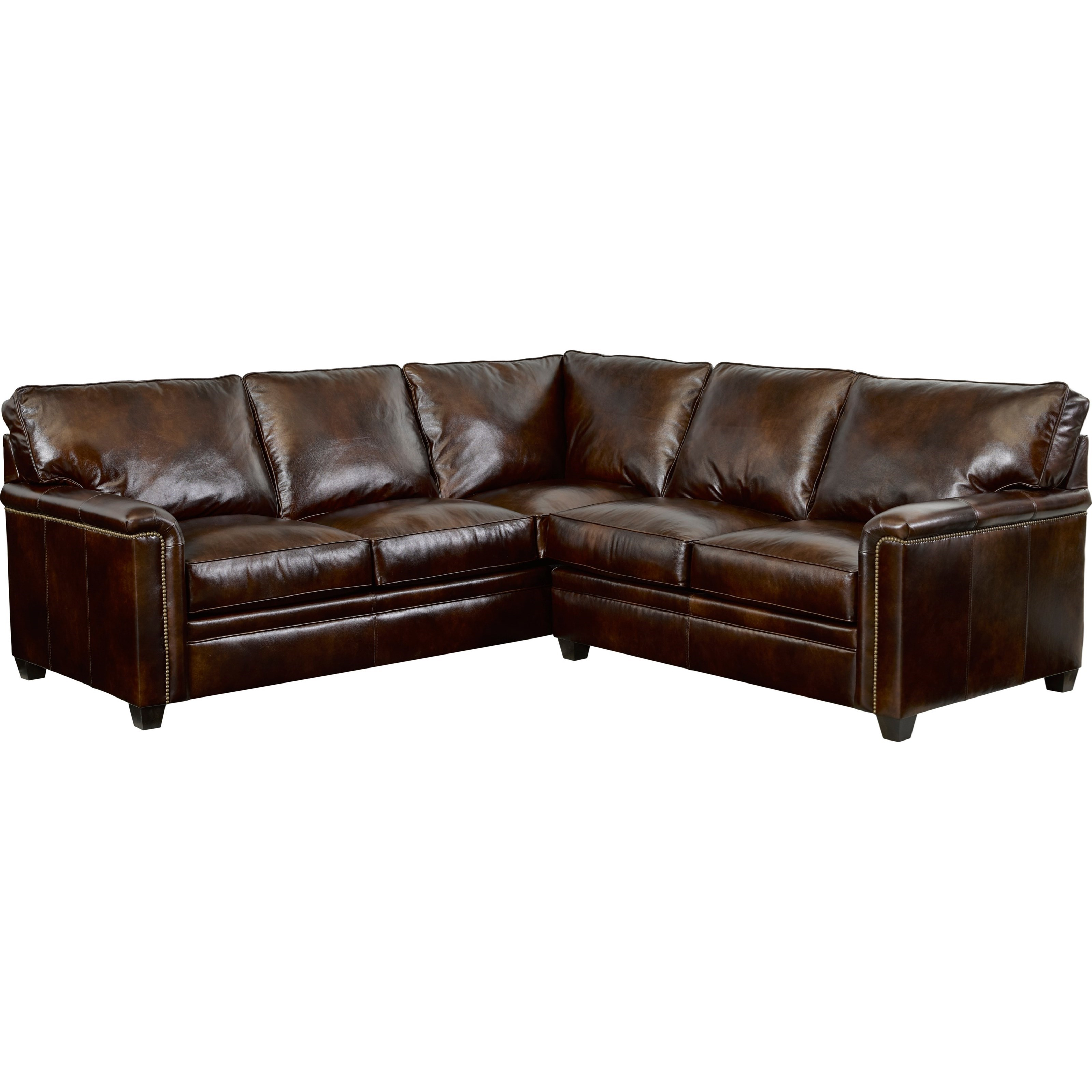 Broyhill Furniture Warren LAF Corner Sofa Sectional with Nail Head ...