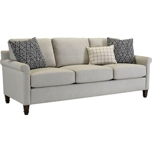 Wells Transitional Sofa with Rolled Arms by Broyhill Furniture