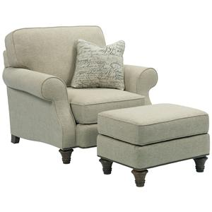 Broyhill Furniture Whitfield Chair and Ottoman