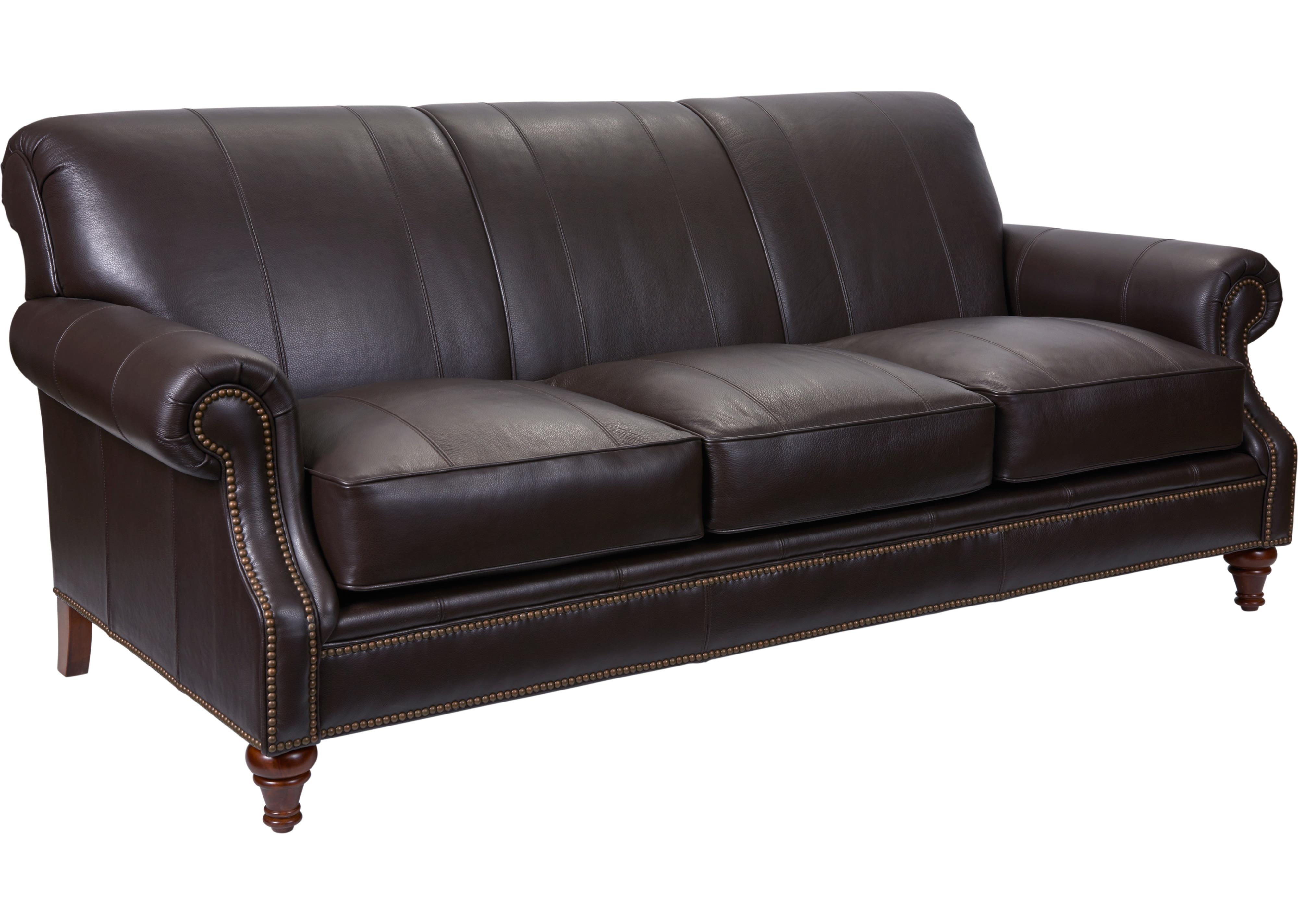 Broyhill furniture windsor sofa with rolled arms knight for Broyhill chaise lounge cushions