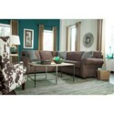 Broyhill Furniture Zachary Sectional Sofa with RAF Corner Sofa and Rolled Arms