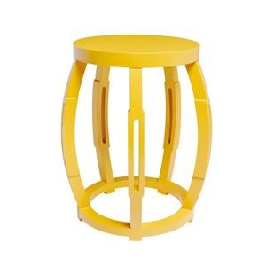 Bungalow 5 STOOL SIDE TABLE TABORET STOOL/SIDE TABLE, YELLOW