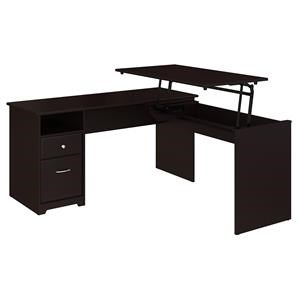 L Shaped Sit to Stand Desk