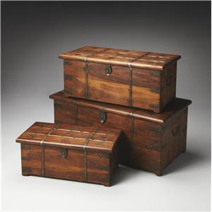 Butler Specialty Company Artifacts Storage Trunk Set