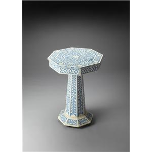 Butler Specialty Company Bone Inlay Pedestal Table
