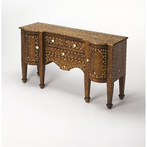 Butler Specialty Company Bone Inlay Console Chest