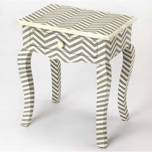Butler Specialty Company Bone Inlay End Table