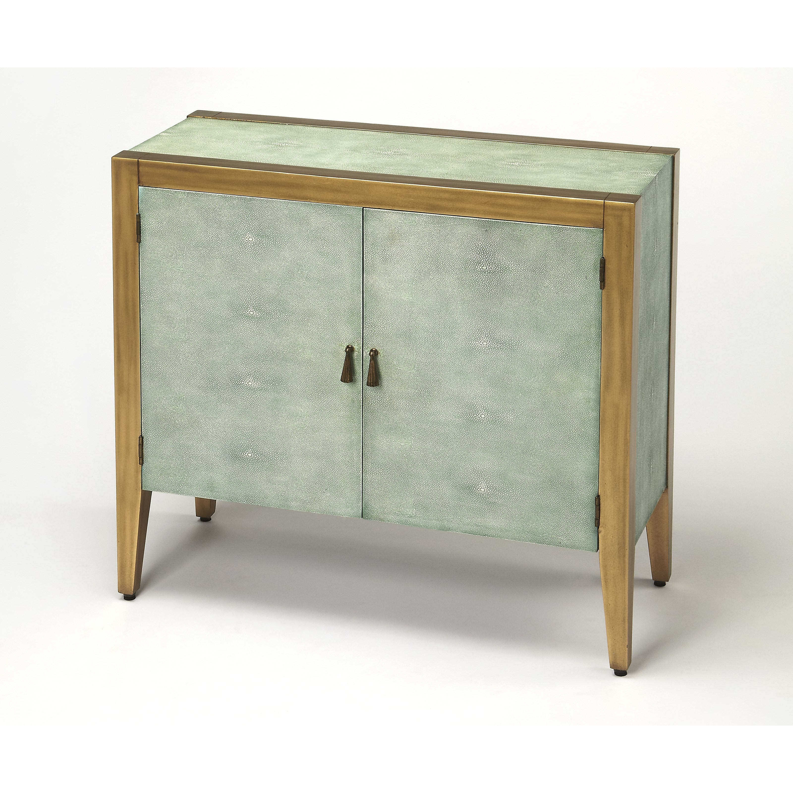 Butler specialty company cosmopolitan apollonia shagreen console cabinet wayside furniture - Sofa table with cabinets ...