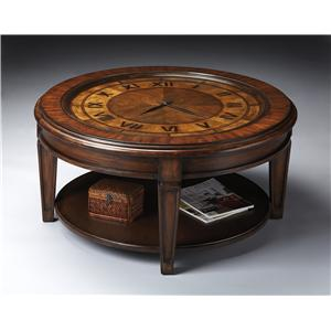 Butler Specialty Company Heritage Clock Cocktail Table