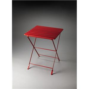 Industrial Chic Bailey Red Folding Side Table by Butler Specialty Company