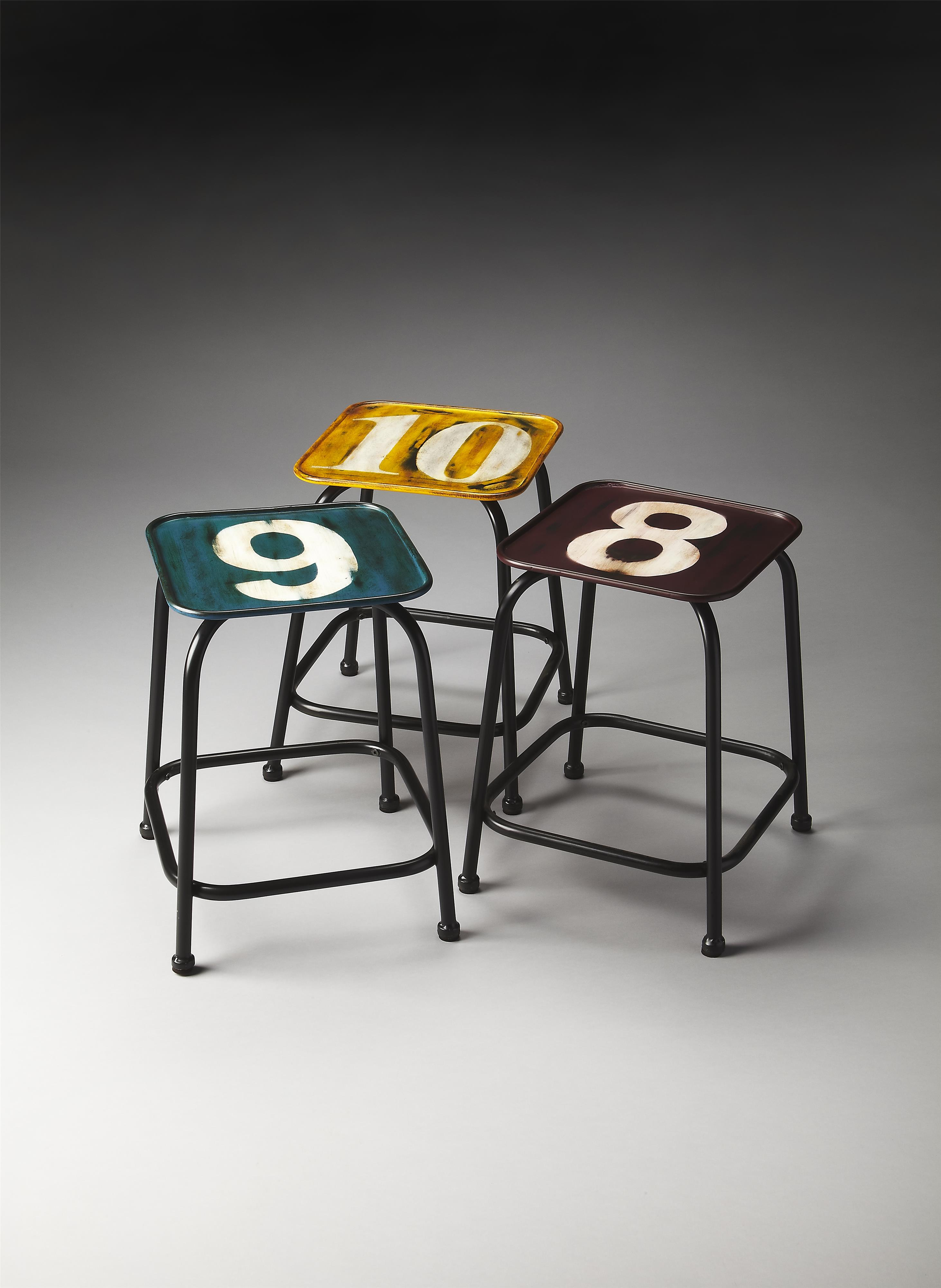 Butler Specialty Company Industrial Chic Stool Set - Item Number: 5113330