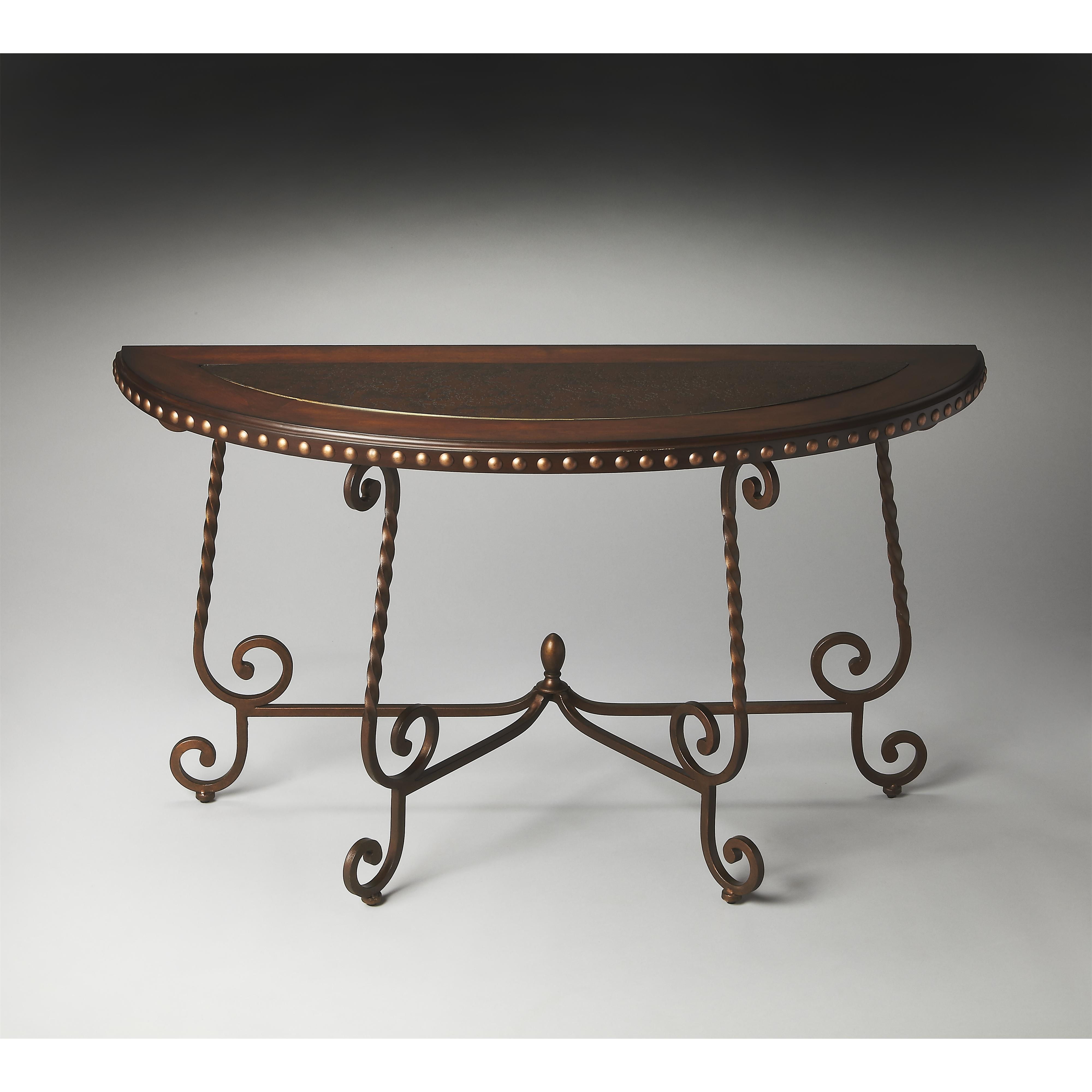 Butler Specialty Company Metalworks Demilune Console Table - Item Number: 2692025