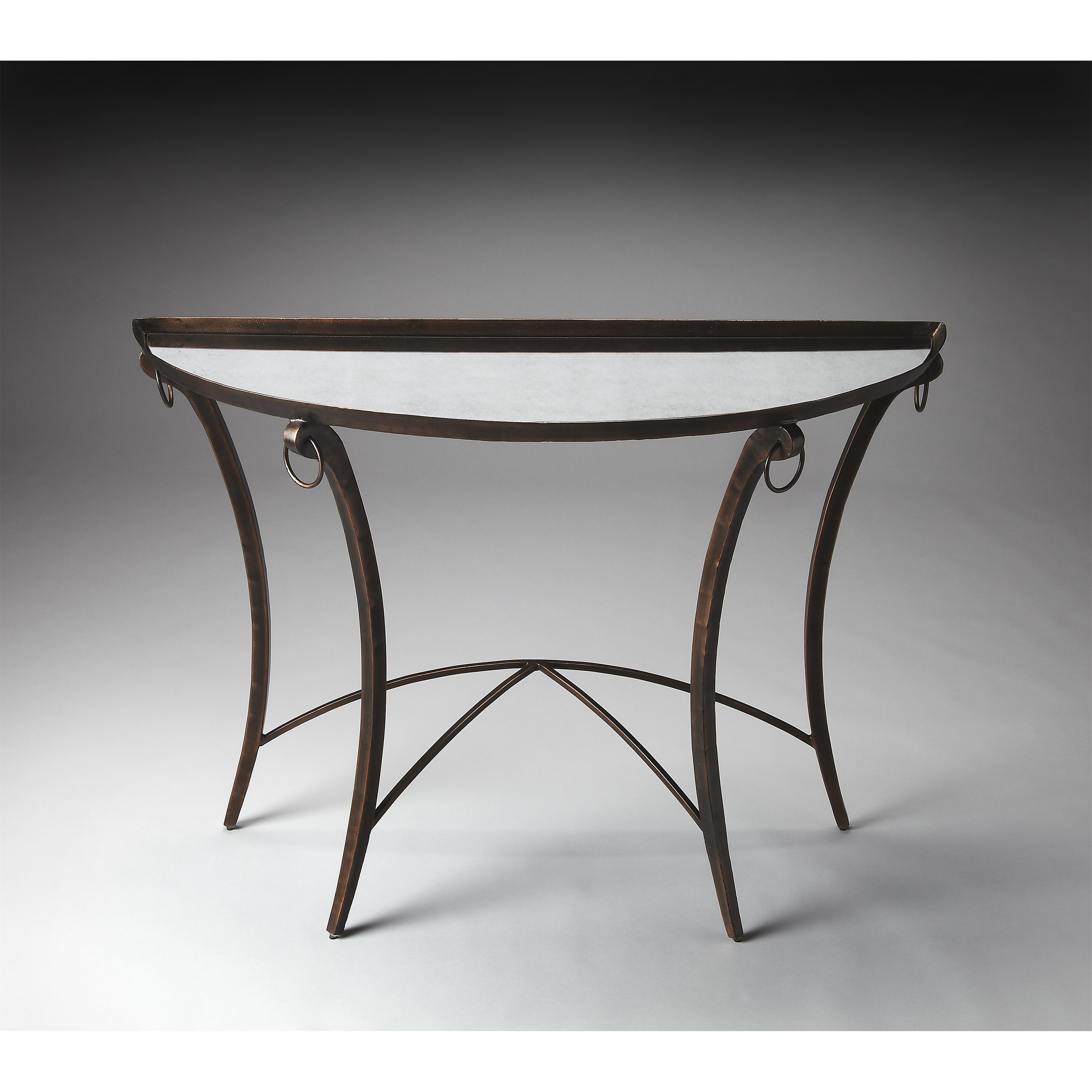 Butler Specialty Company Metalworks Demilune Console Table - Item Number: 3195025