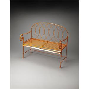 Butler Specialty Company Metalworks Ellipses Metal Bench