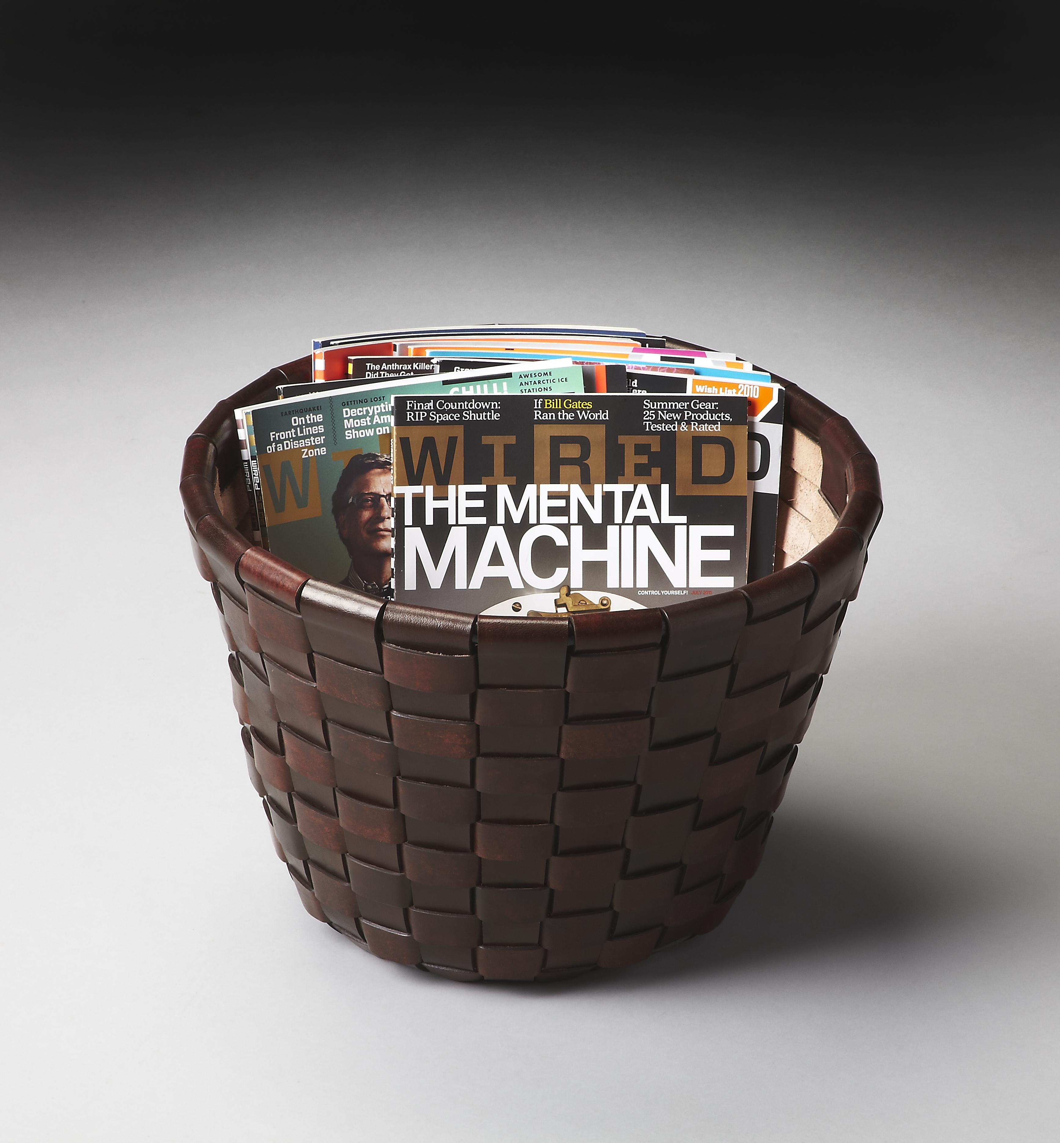 Butler Specialty Company Modern Expressions Magazine Basket - Item Number: 1164260