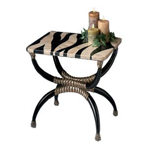 Butler Specialty Company Tables Accent Table with Zebra Top