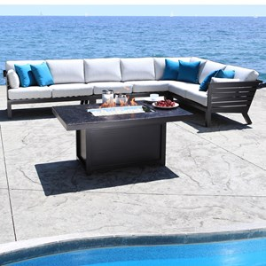 Apex 5 Piece Contemporary Outdoor Sectional by Cabana Coast