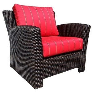 Westport Deep Seating Accent Chair with Wicker Frame by Cabana Coast