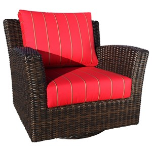 Westport Swivel Glider Chair with Wicker Frame by Cabana Coast