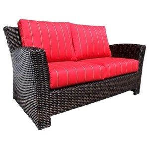 Westport Loveseat with Wicker Frame by Cabana Coast