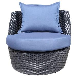 Cabana Coast Zen Swivel Accent Chair