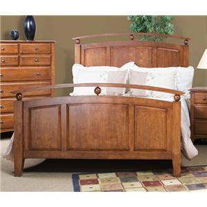 Cal Oak Chapel Hill Solid Birch Queen Size Panel Bed