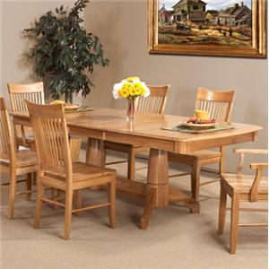 Cal Oak Matrix  Solid Oak Dining Table