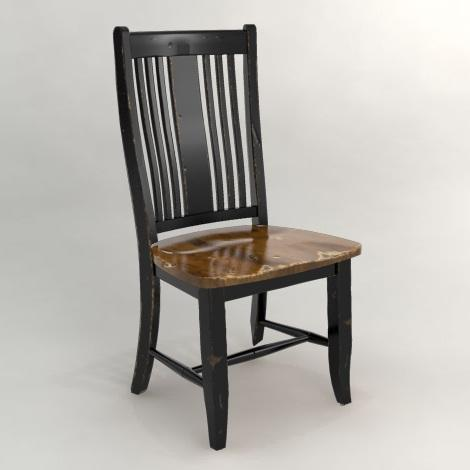 Canadel Champlain - Custom Dining Side Chair with Slat Back - Item Number: CHA022503363DPC