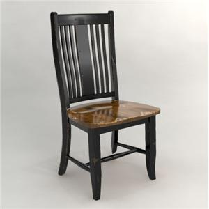 Side Chair with Slat Back