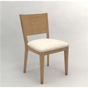 Canadel High Style - Custom Dining Side Chair with Upholstered Seat