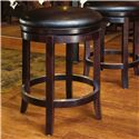 "Canadel Bar Stools Customizable 24"" Upholstered Swivel Stool - Item Number: STO 0-8004-XD30M-24-S"