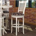 "Canadel Bar Stools Customizable 30"" Upholstered Swivel Stool - Item Number: STO 0-8232-QZ82M-30-S"