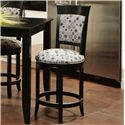 "Canadel Bar Stools Customizable 24"" Upholstered Swivel Stool - Item Number: STO 0-8274-BL63M-24-S"