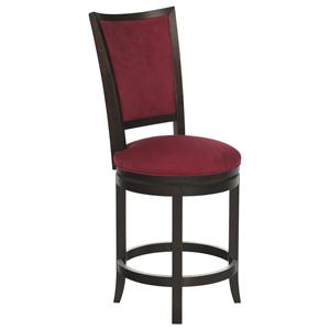 "Canadel Bar Stools Customizable 24"" Upholstered Swivel Stool"