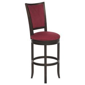 "Canadel Bar Stools Customizable 30"" Upholstered Swivel Stool"