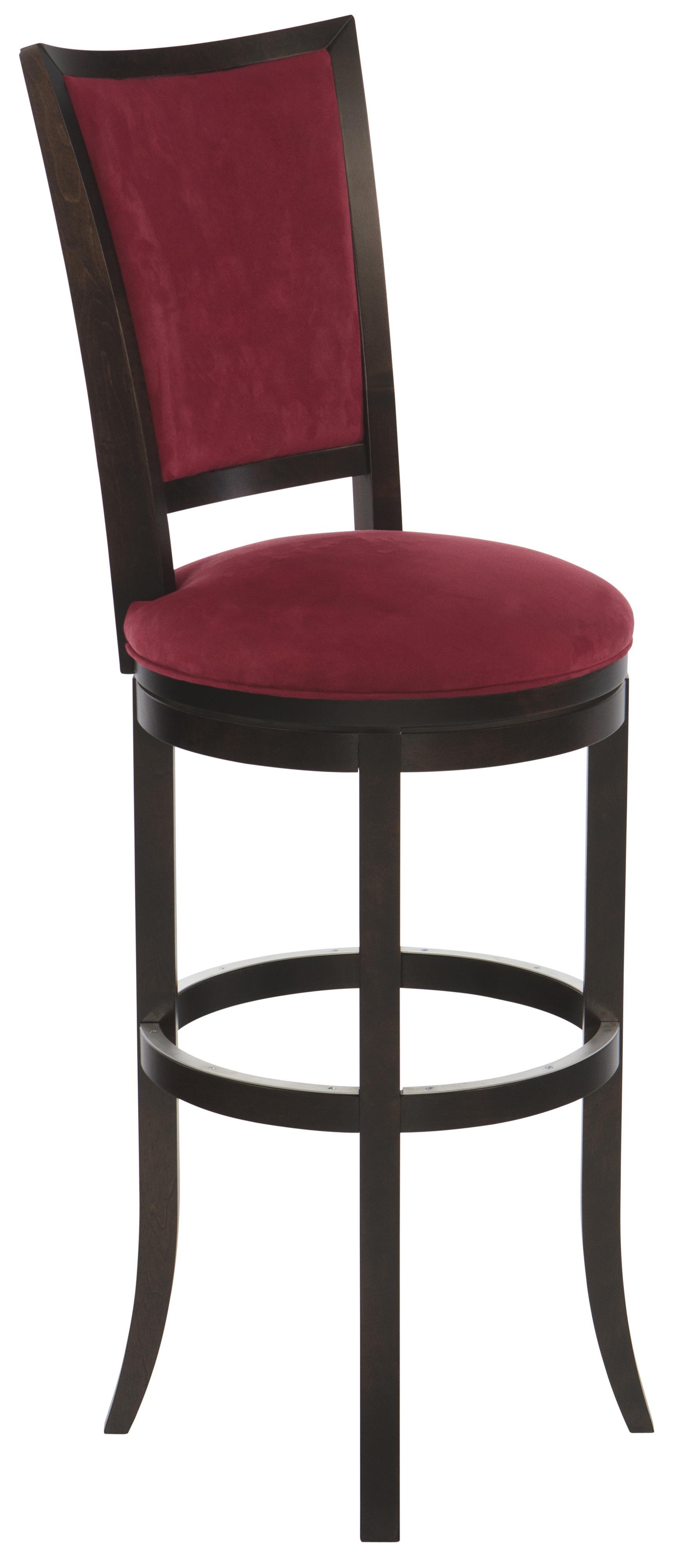 Canadel Bar Stools Customizable 34 Upholstered Swivel