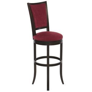 "Canadel Bar Stools Customizable 34"" Upholstered Swivel Stool"