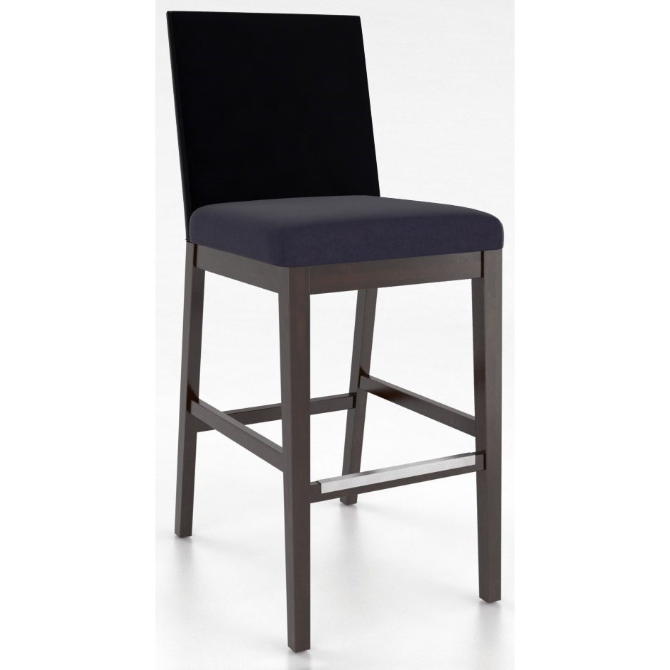 "Bar Stools Customizable 30"" Upholstered Fixed Stool by Canadel at Jordan's Home Furnishings"