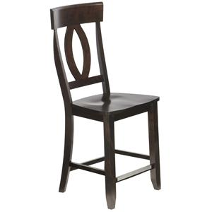 "Canadel Bar Stools Customizable 24"" Wood Seat Fixed Stool"