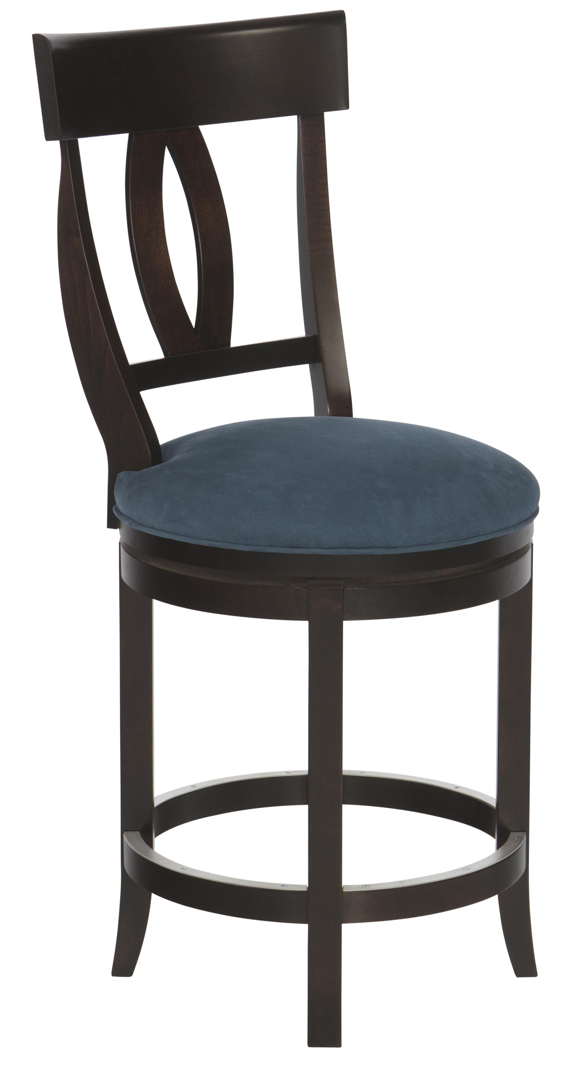 "Bar Stools Customizable 24"" Upholstered Swivel Stool by Canadel at Saugerties Furniture Mart"