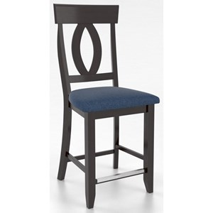 "Customizable 24"" Upholstered Fixed Stool"