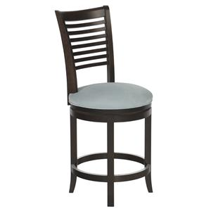 "Canadel Bar Stools Customizable 24"" Upholstered Swivel Stool"