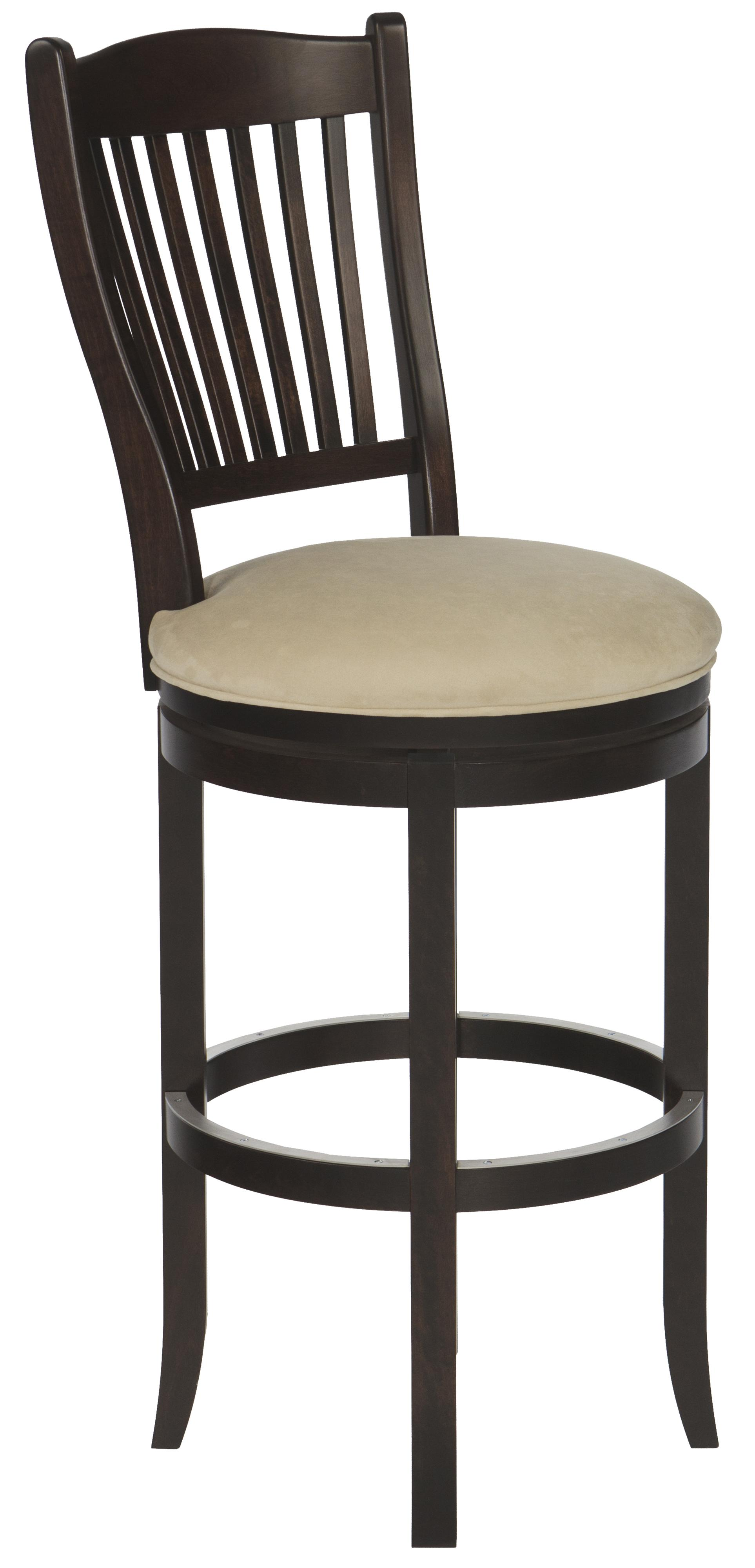 "Customizable 32"" Upholstered Swivel Stool"