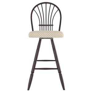 "Canadel Bar Stools <b>Customizable</b> 30"" Uph Swivel Stool"