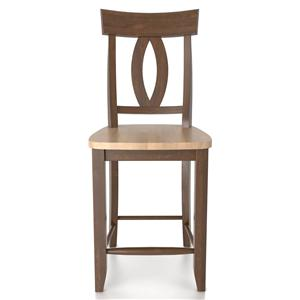 "Canadel Bar Stools <b>Customizable</b> 24"" Fixed Bar Stool"