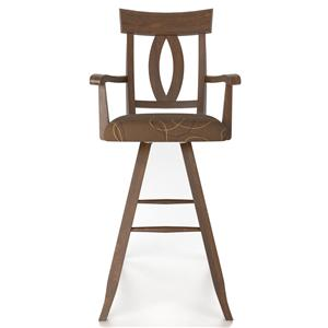 "Canadel Bar Stools Customizable 30"" Uph Swivel Stool w/ Arms"