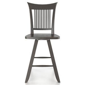 "Canadel Bar Stools <b>Customizable</b> 24"" Swivel Stool"