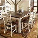 Canadel Champlain - Custom Dining <b>Customizable</b> Rectangular Table Set - Item Number: TRE3878+6xCHA0764