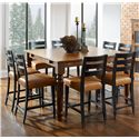 Canadel Champlain - Custom Dining Customizable Square Counter Table Set